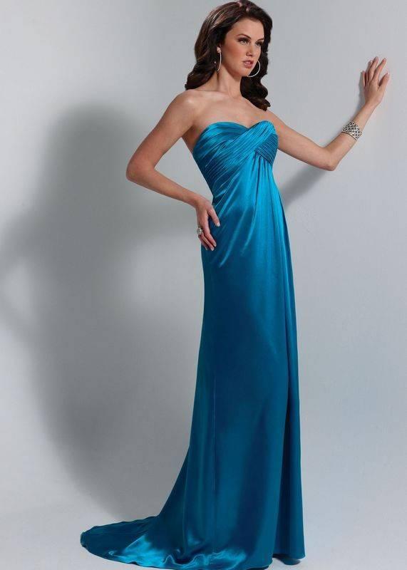 One-piece bridesmaid evening dress in satin