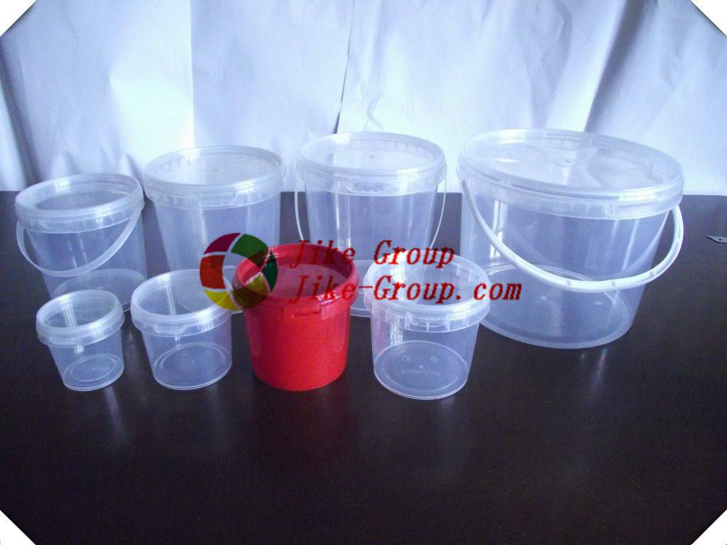 plastic bucket clear plastic bucket Top Quality multi-function clear round plastic buckets with lids