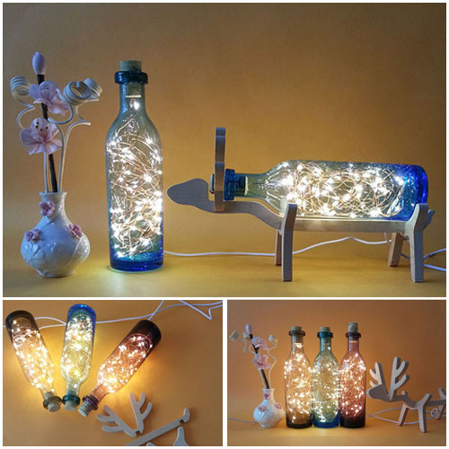 cute usb deer led night light