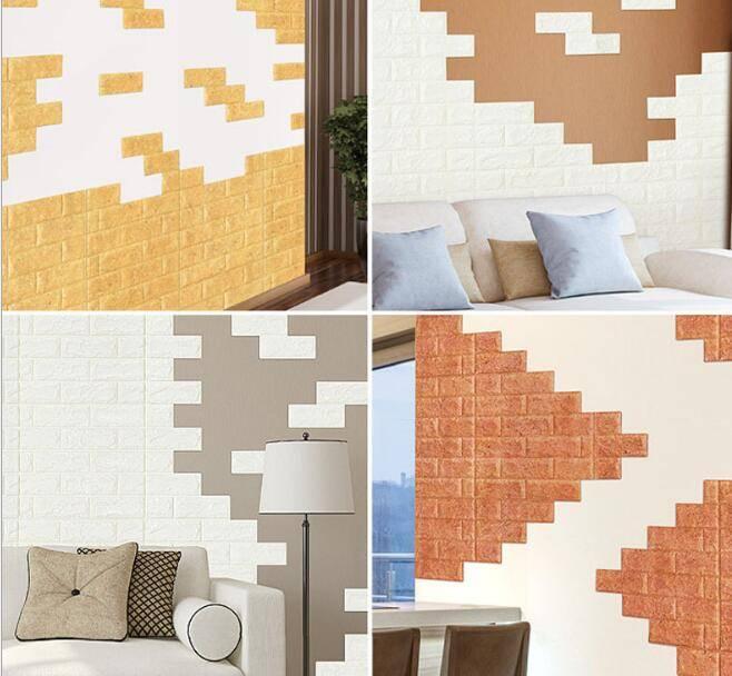 Decoration heat-proof XPE Foam Sticker Korean Style XPE Foam wall bricks