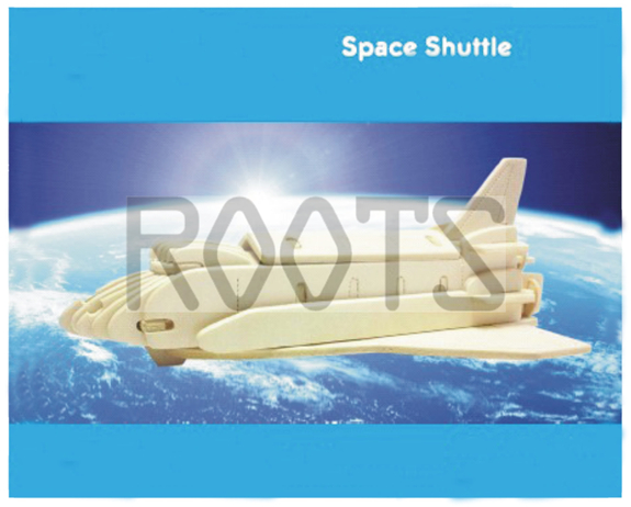 Space Shuttle-3D wooden puzzles, wooden construction kit,3d wooden models, 3d puzzle