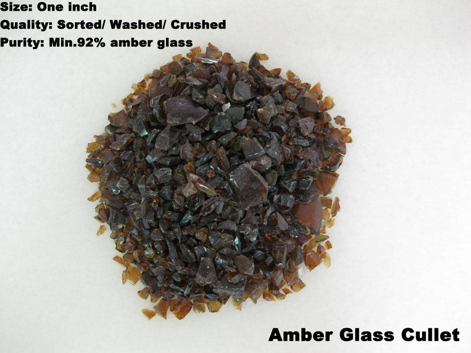 Amber glass cullet