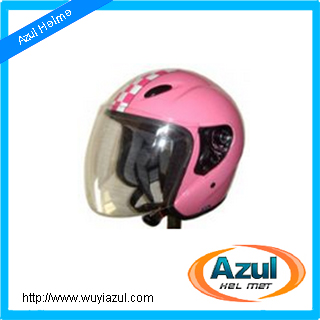 Double D-ring Half Face Motorcycle Helmet