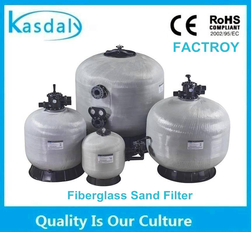 large rapid aqua top mount frp sand filter for swimming pool water well aquaculture