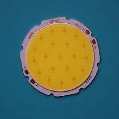 15W Round COB High power LED, 49mm