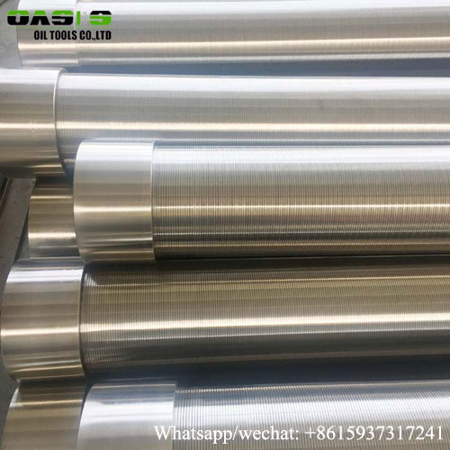 Stainless Steel Borehole Drilling Continuous Slot Water Well Screens