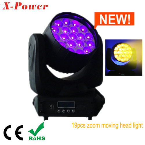 led zoom moving head light