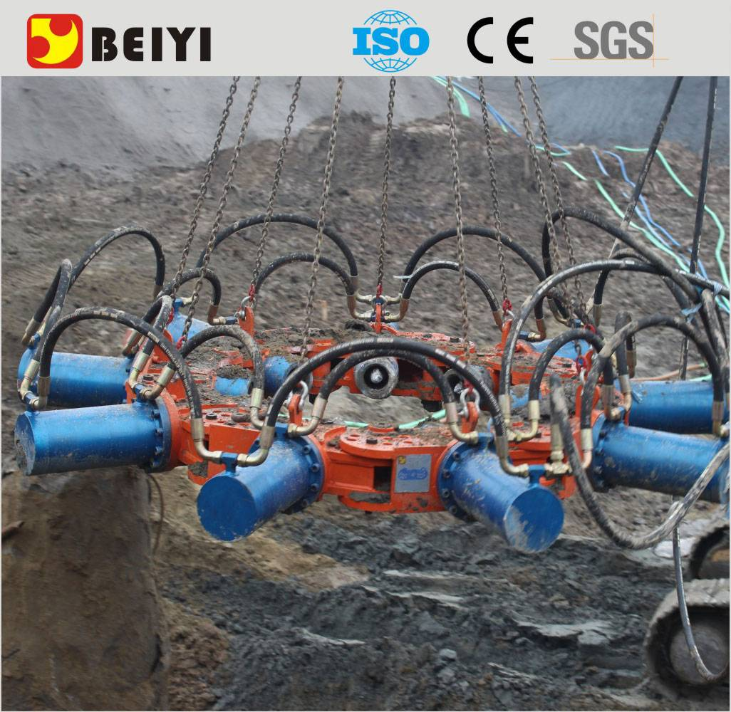 BEIYI concrete pile cutting machine hydraulic pile breaker concrete pile head cutter
