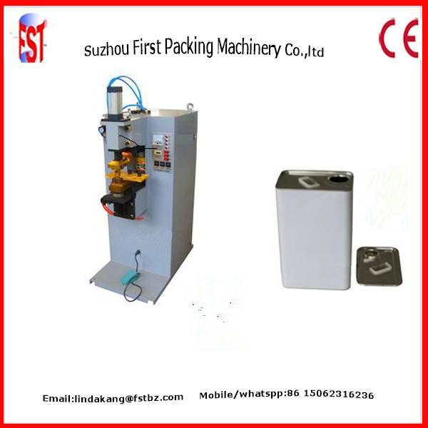 Square can earlug spot welding machine