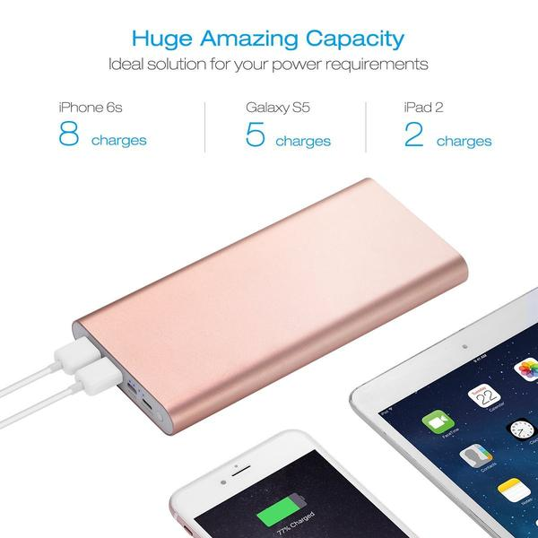Poweradd Power Bank 20000 mAh Portable Charger For iPhone / Android Phone