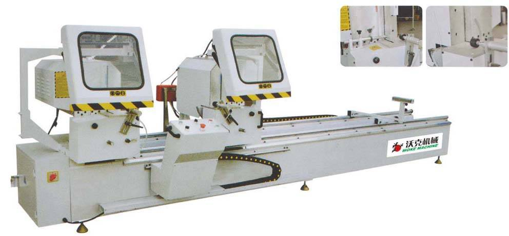 Window and door double head cutting saw machine