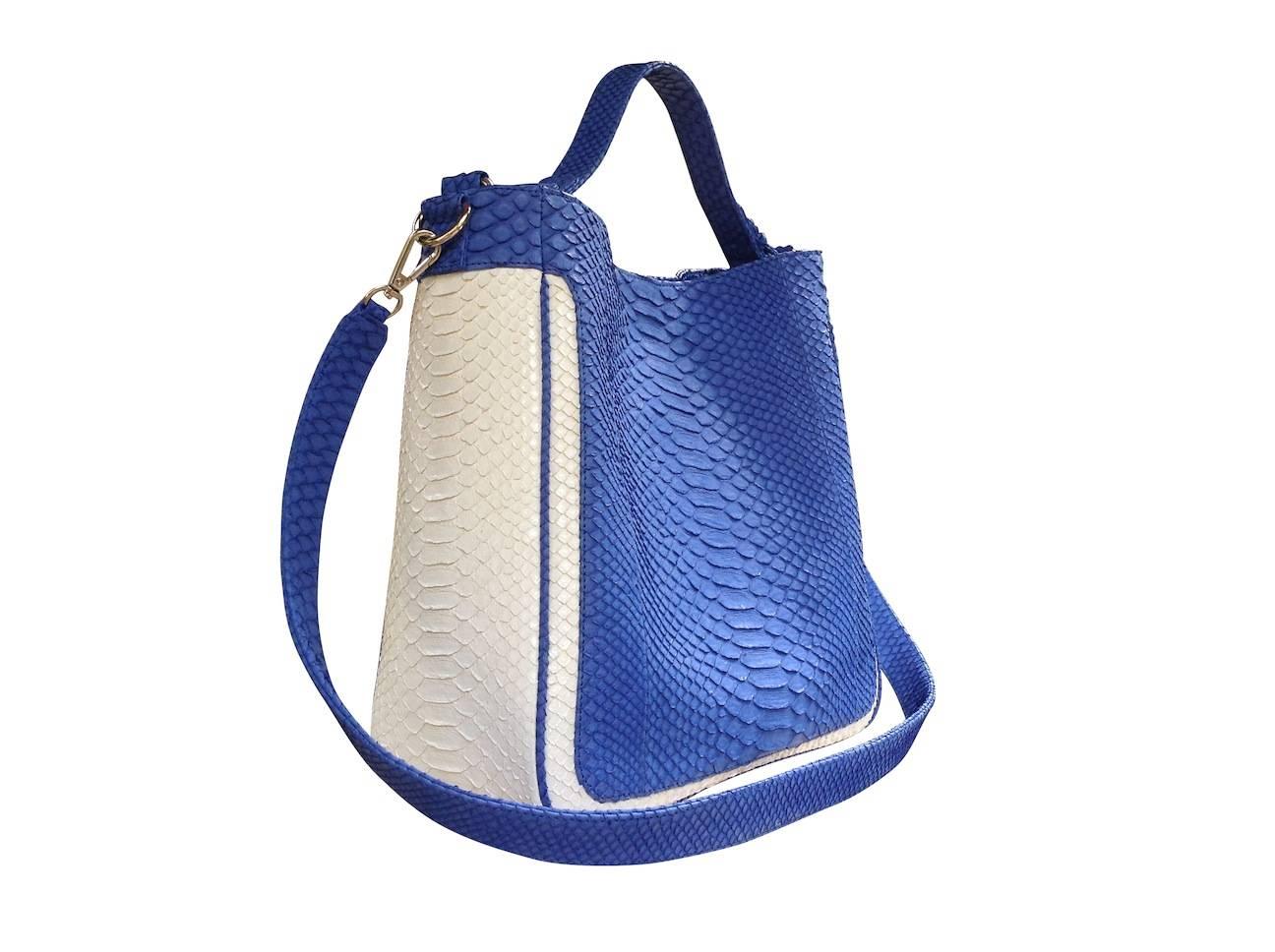 Suzy Q Genuine Python Tote Handbag