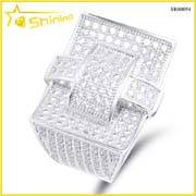 wholesale micro pave lab created diamond iced out cz hip hop ring