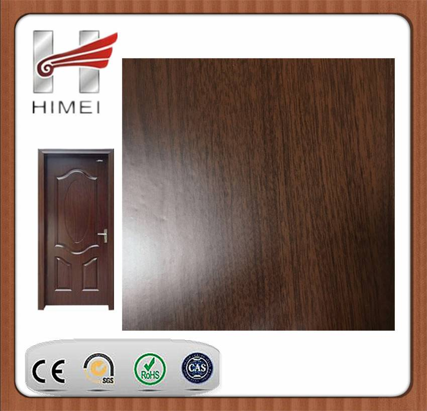 Wooden color laminated sheet for door