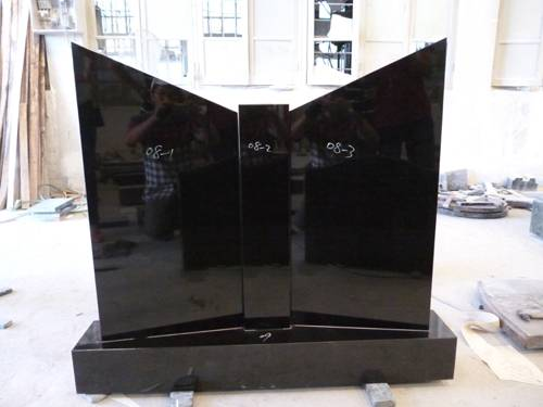 Book shape headstone black monument granite tombstone
