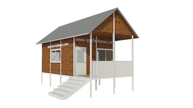 cute one floor panel pre-made steel house kits,26.50 sq.m.