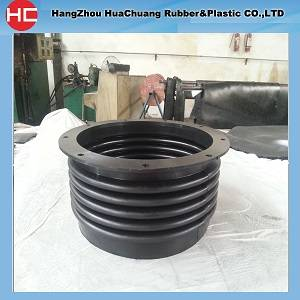 Supply custom rubber bellows with flange