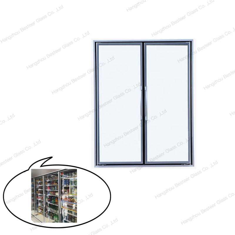 New Design Aluminum Cold Room Glass Door for Display