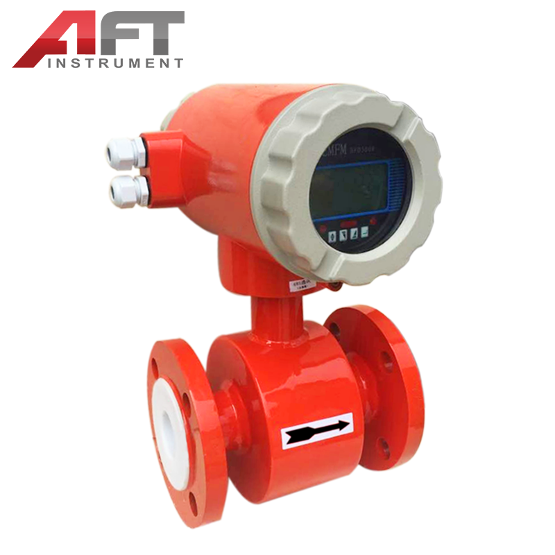 LCD digital flange type 4-20mA output coriolis mass flow meter