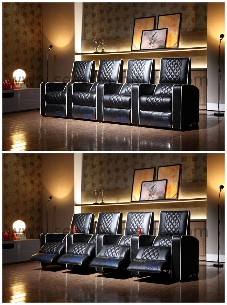 Reclining theatre seating for home and cinema LS-805
