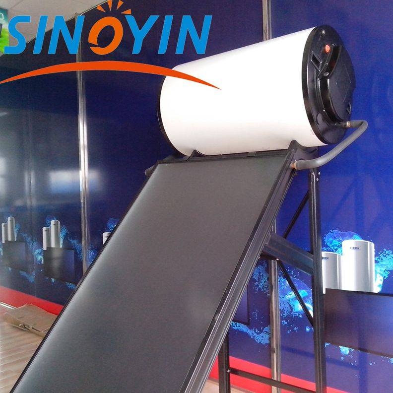 Compact solar thermal water heater of 150 liter