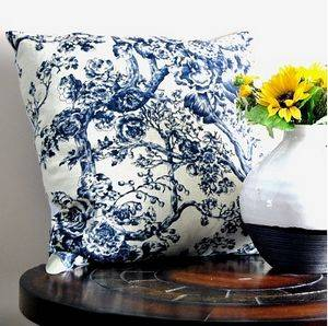 Old fashioned linen screen printed cushion cover