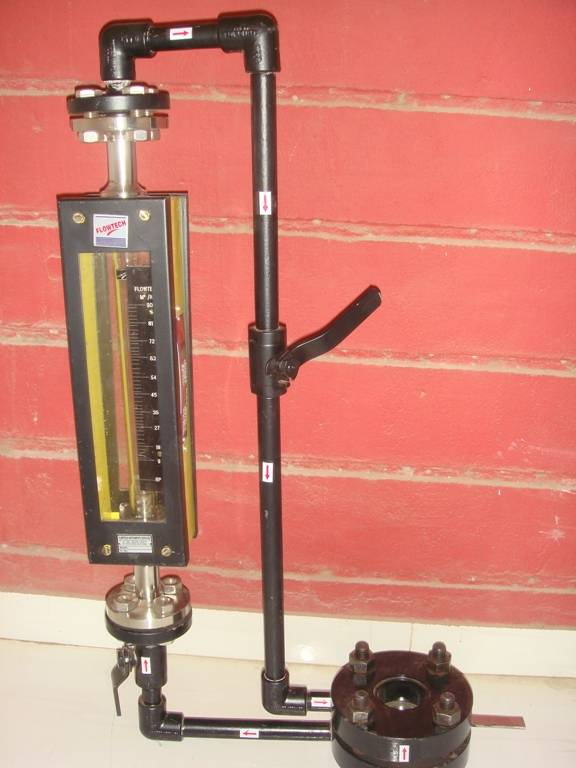 By pass tube Rotameter