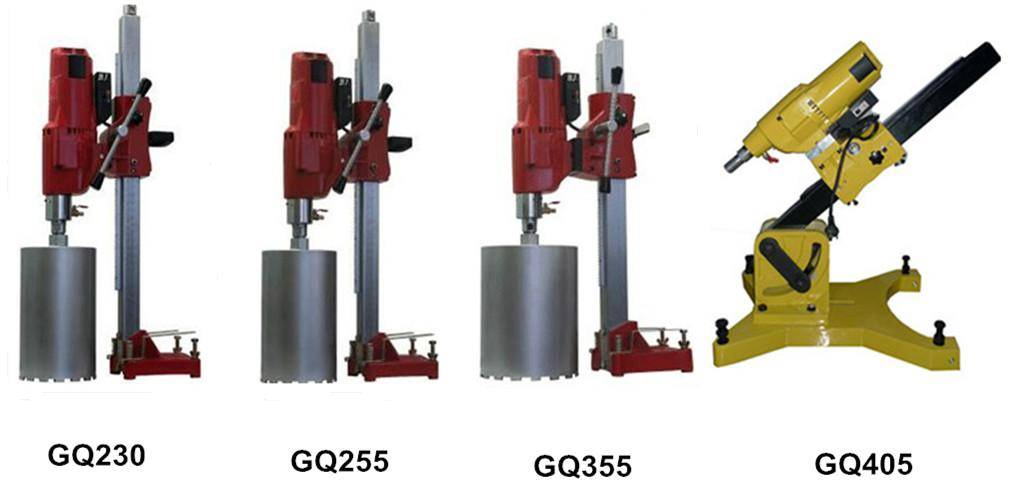 concrete core drilling machine, diamond core drill bit GQ405