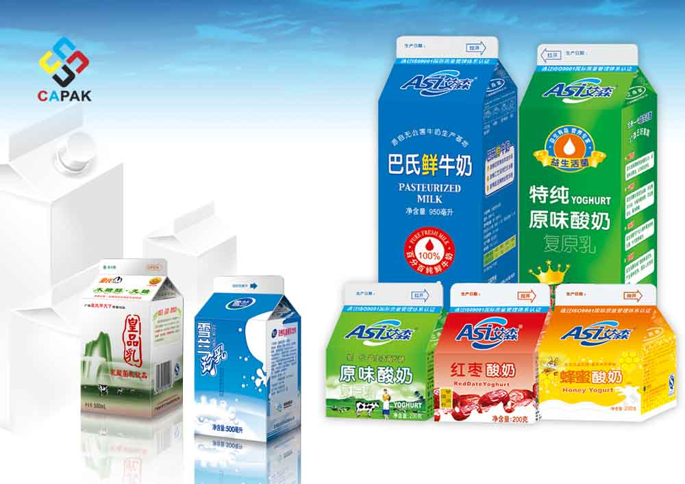 Milk Gable Top Aseptic Package Sleeve