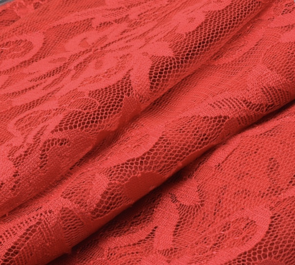 Hot sale Nylon Lycra stretch Lace fabric for wedding dress