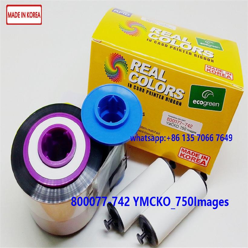 Compatible 800077-742, 8000777-7-742EM YMCKO _750Images Zebra ZXP7