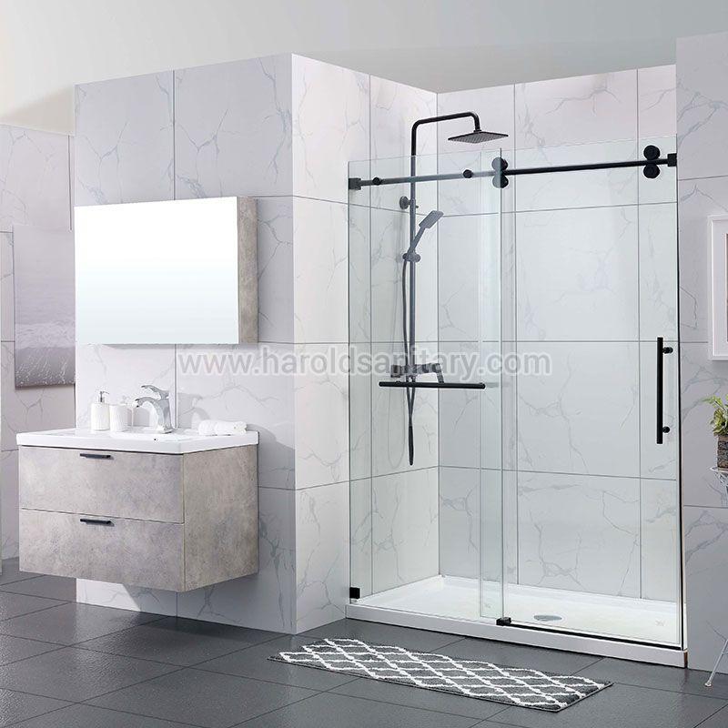 Double Roller Single Sliding Shower Enclosure