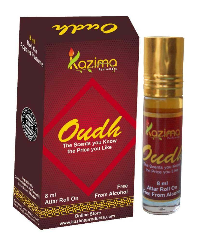 Oudh 8ml Roll on Attar Itr Perfume Oil Free From Alcohol