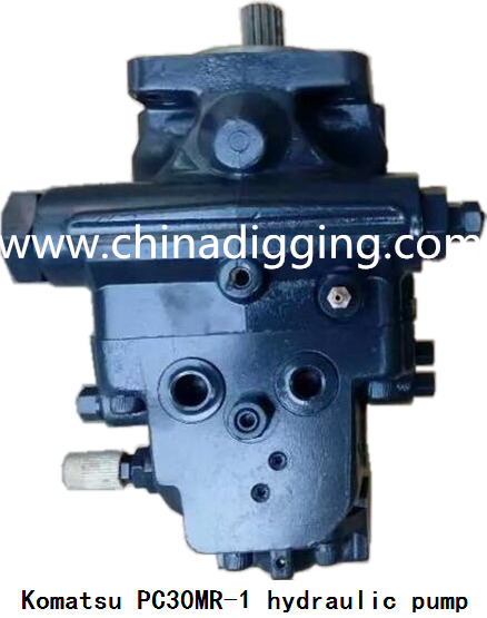 Komatsu PC30MR-1 excavator hydraulic pump main pump assy