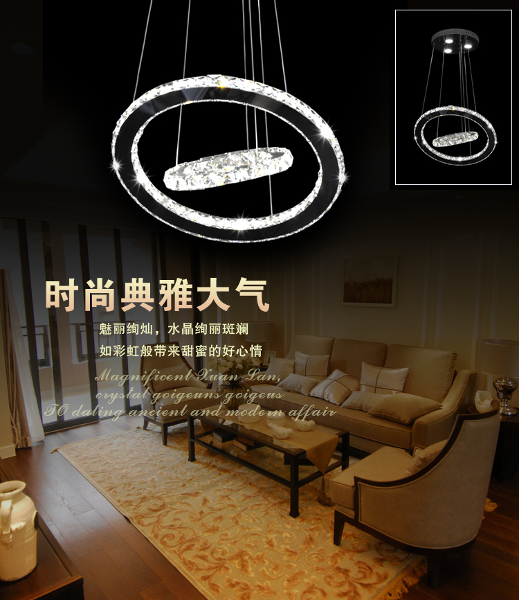Pendant led light dowlight crystal fixture pendants fittings circular shape