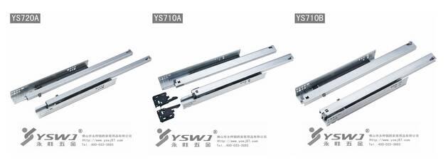 Concealed soft closing drawer slides
