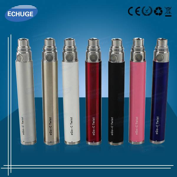 Trustworthy ego c twist ego battery with USB charger e cigarette
