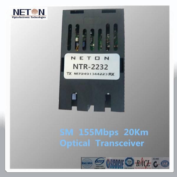 1x9 155Mbps 20km  SM SC Optical Transceiver
