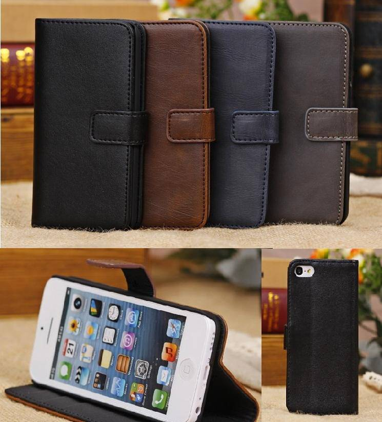 2013 newest i5c phone leather case with cord in fashion design