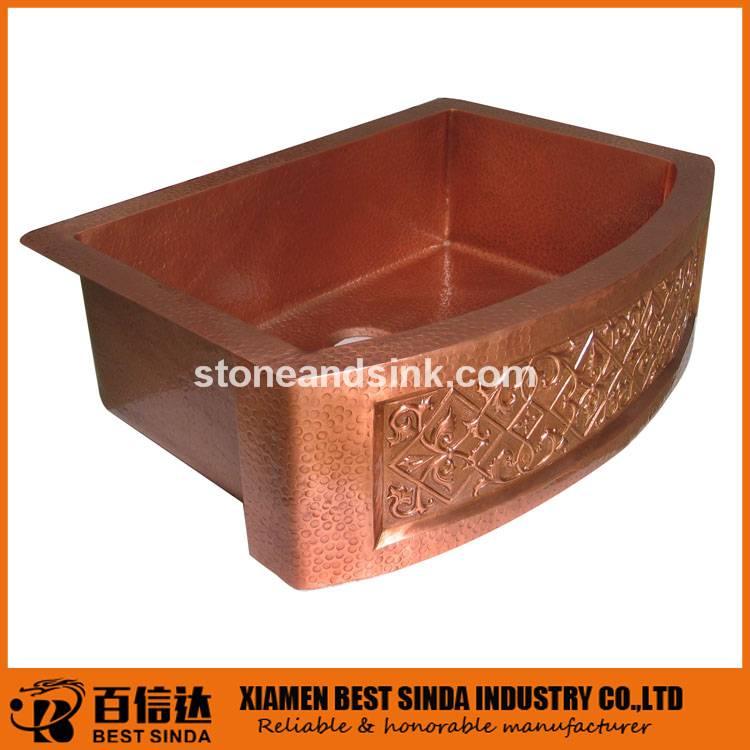 Wholesale arch front apron copper sink
