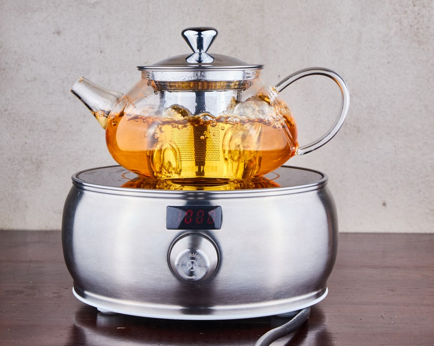 Promotional Tea Drinking Commercial Glass Teapot with Infuser