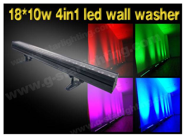 1810w 4in1 leds single point of control wall washer/ indoor led wall washer