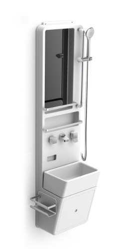ALLIN3 : Shower, Basin, Mirror and Storages in one system unit