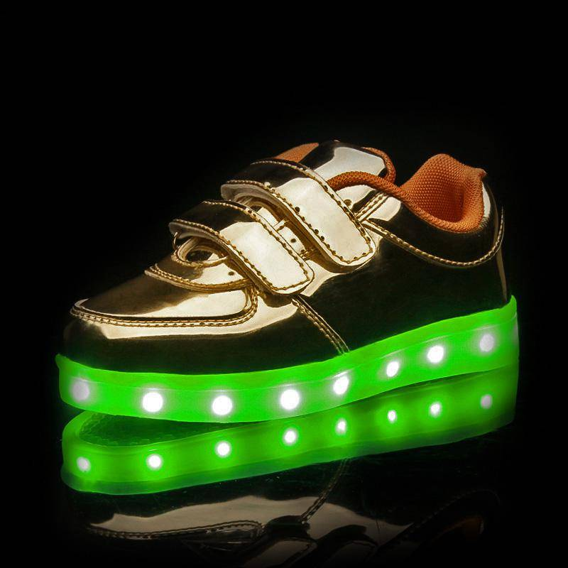 Children Latest Flash Light LED Shoes Sub Plug-in Luminous LED Shoes