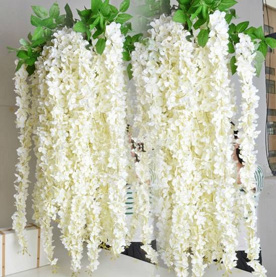 Big Plastic Silk Wisteria wedding artificial flower