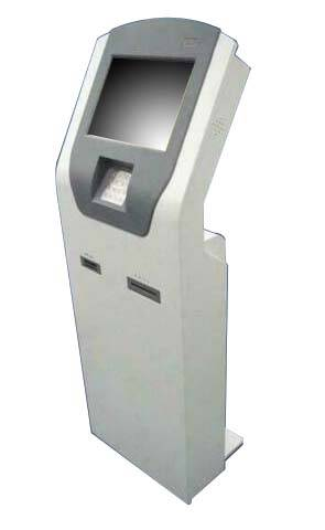 Q1 queue and payment touchscreen kiosk machine with EPP card reader and receipt thermal printer