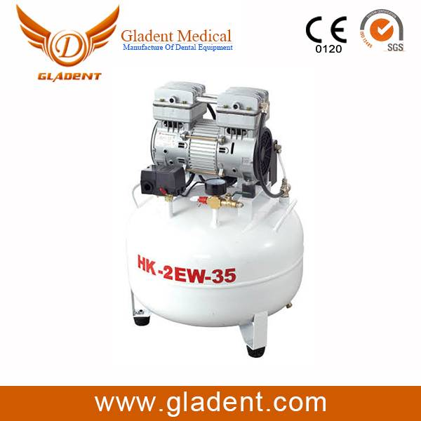 Dental air compressor GD-2EW-35A stainless steel tank