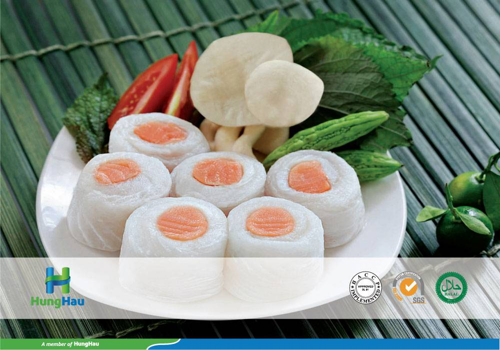 Pangasius Rolled with Salmon