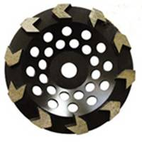 Silver Brazed Arrow Shape Cup Wheel