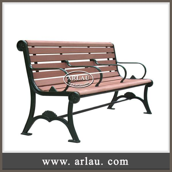 Arlau outdoor garden furniture,wooden benches,wpc recycle plastic composite wood benches